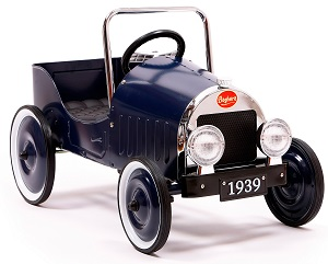 Jalopy Pedal Car Blue - Click on image to enlarge