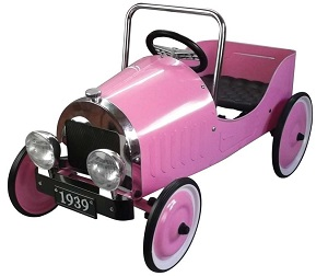 Pink Classic Pedal Car - Click on image to enlarge