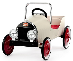 Jalopy Pedal Car White - Click on image to enlarge