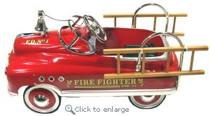 Comet Firefighter Pedal Car - Click here to Enlarge Picture