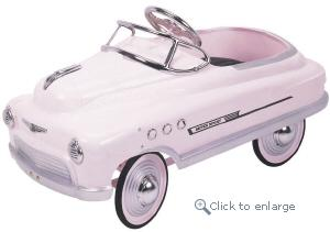 Comet Pink Supersport Pedal Car - Click here to Enlarge Picture